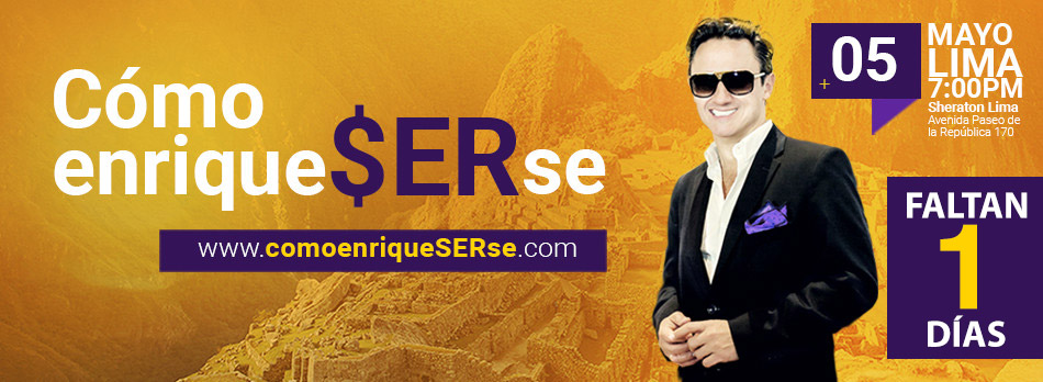 Faltan 1 para la conferencia Como EnriqueSERse - Lima, Perú