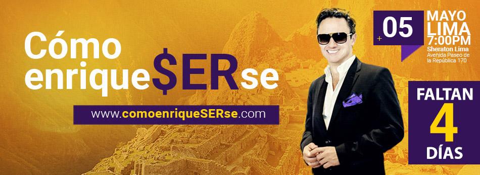 Faltan 4 para la conferencia Como EnriqueSERse - Lima, Perú
